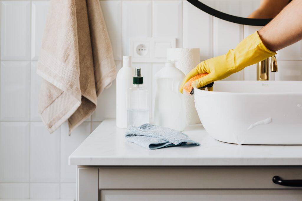 Composiet aanrechtblad schoonmaken